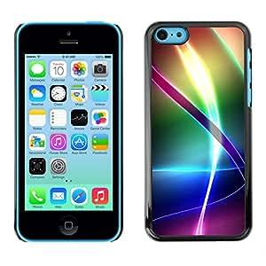 PC/Aluminum Funda Carcasa protectora para Apple Iphone 5C Iridescent Rainbow Pattern / JUSTGO PHONE PROTECTOR