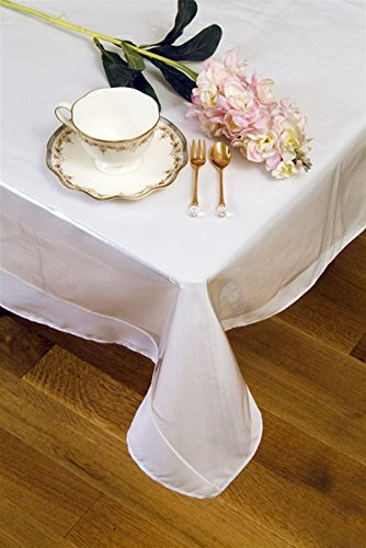 Laminated Fabric Tablecloth (Oblong Crystal Clear Vinyl Tablecloth Protector, 70