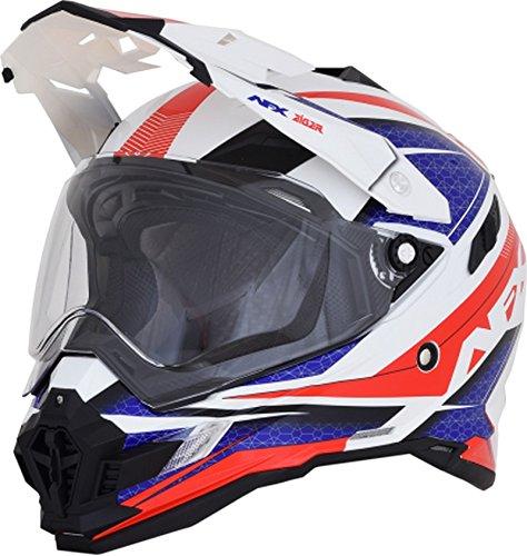 AFX 0110-5346 FX-41DS Red/White/Blue Eiger Helmet (Red/White/Blue, Medium)