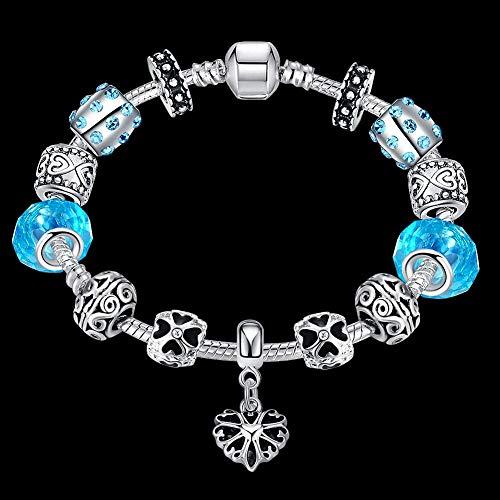 Jinsun Charming Bracklet Gift Glass Loose Beads DIY Jewelry European and American Crystal Beaded Handmade Bracelet