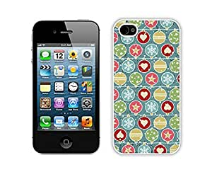 Custom Design Iphone 4S Protective Skin Case Merry Christmas White iPhone 4 4S Case 17