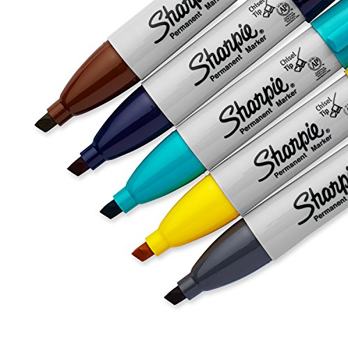 Sharpie Permanent Markers, Broad, Chisel Tip, 5-Pack, Assorted 2015 Colors (1927321) by Sharpie (Image #3)