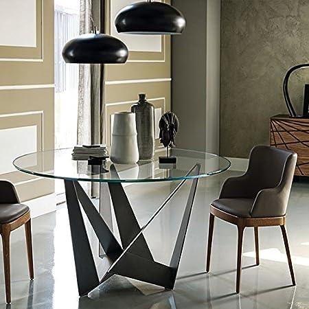 Table A Manger Ronde Design Transparent En Verre Boavista