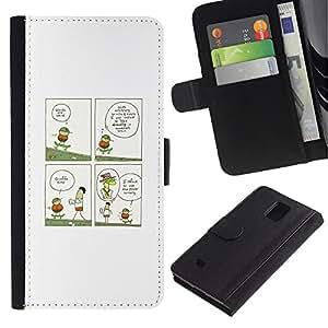 """JackGot ( Gracioso - jirafa Ilustración"""" ) Samsung Galaxy Note 4 IV la tarjeta de Crédito Slots PU Funda de cuero Monedero caso cubierta de piel"""