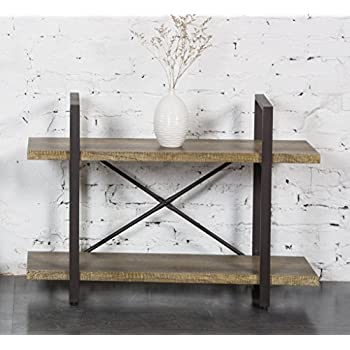 Popular Amazon.com: O&K Furniture 2-Tier Rustic Wood and Metal Bookshelves  CG85