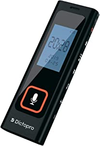 Digital Voice Activated Recorder w/Password Protection - HQ Recording from 60ft, Record Lectures & Meetings, Sensitive Microphone, Automatic Noise Reduction, 582H Playback, Small & Portable, USB, 8G