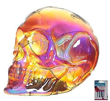 2c06ec46f51f80 bick.shop LED Totenkopf Skull Totenschädel inkl. 4 Batterien Coole Deko  Gothic schädel