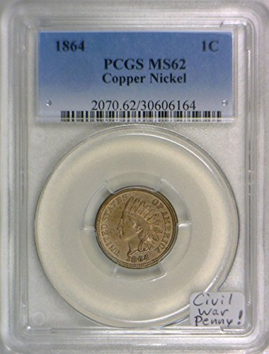 Ms62 Nickels (1864 Indian Head Copper-Nickel Cent MS-62 PCGS)
