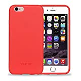 Image of Yesker iPhone 6S Case iPhone 6 Case Slim Smooth Premium Durable Soft Rubber Gel back Case Cove - Red