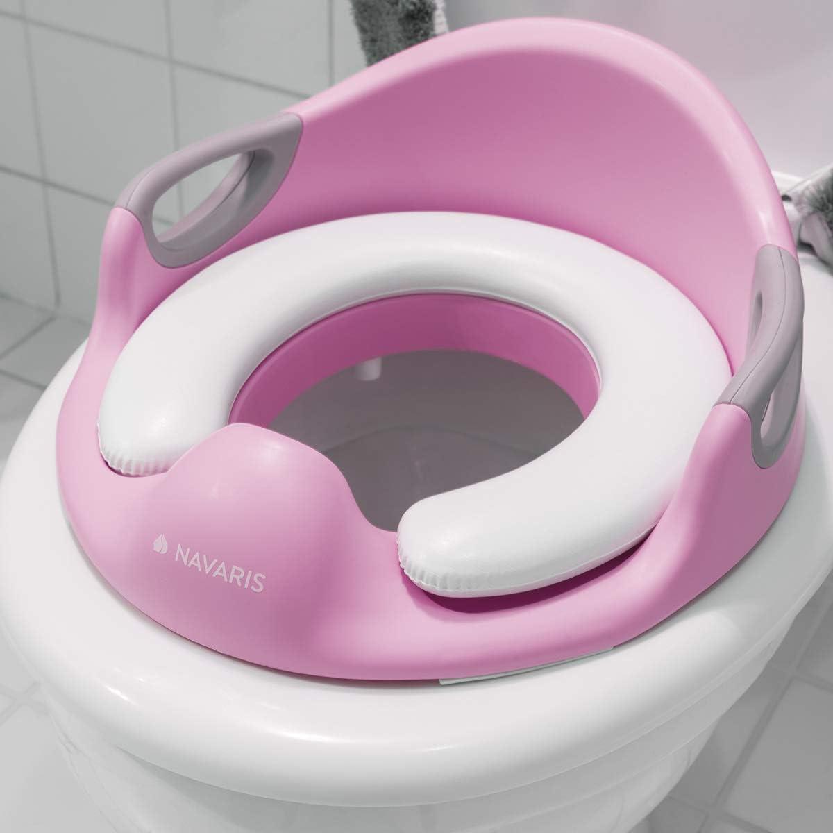 rosa Asiento reductor para tapa del inodoro para beb/é Navaris Adaptador WC para ni/ños Adaptador infantil de entrenamiento port/átil