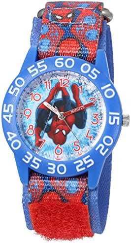 Marvel Boy's 'Spider-Man' Quartz Plastic and Nylon Automatic Watch, Color:Red (Model: W003226)