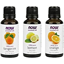 3-Pack Variety of NOW Essential Oils: Citrus Blend - Orange, Tangerine, Lemon