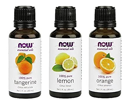 3 Pack Variety Of Now Essential Oils: Citrus Blend   Orange, Tangerine, Lemon by Now Foods
