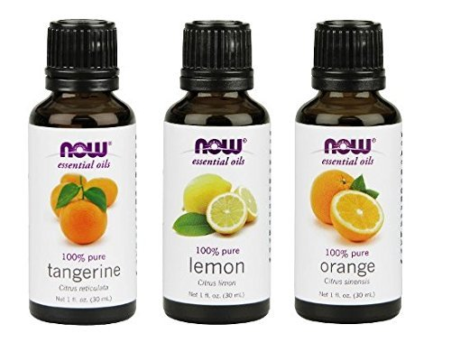 3-Pack Variety of NOW Essential Oils: Citrus Blend - Orange, Tangerine, - Citrus Lemon
