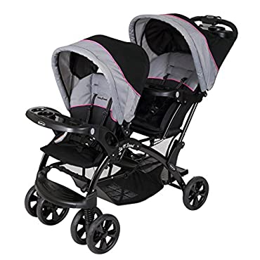 Baby Trend Sit N' Stand Double Infant Stroller, Millennium Pink (SS76044)