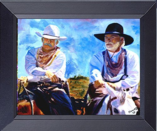 Gus And Call Leaving Lonesome Dove Fine Art Framed Canvas