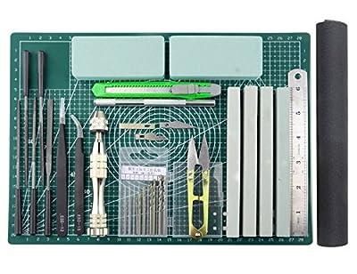 BXQINLENX 25 PCS Gundam Modeler Basic Tools Craft Set For Car Model Assemble Building(E)