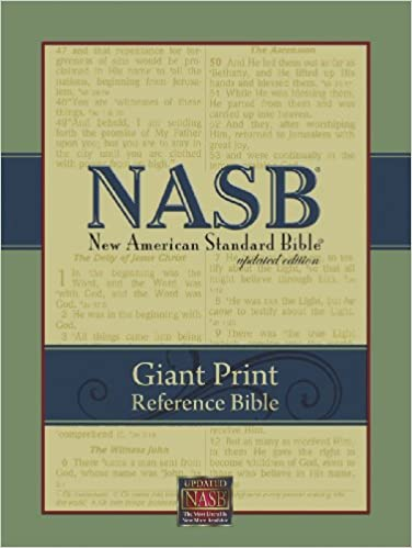NASB Giant-Print Reference Bible: Indexed (Burgundy Genuine