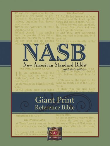 NASB Giant Print Reference Bible (Black Genuine Leather)