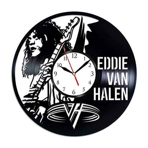 (GoodIdea Art Eddie Van Halen Music Vinyl Record Wall Clock, Eddie Van Halen Handmade for Kitchen, Eddie Van Halen Unique Wall)