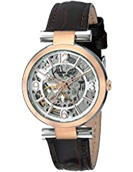 Kenneth Cole New York Womens KC2819 Automatic Silver Rose Gold Strap Watch