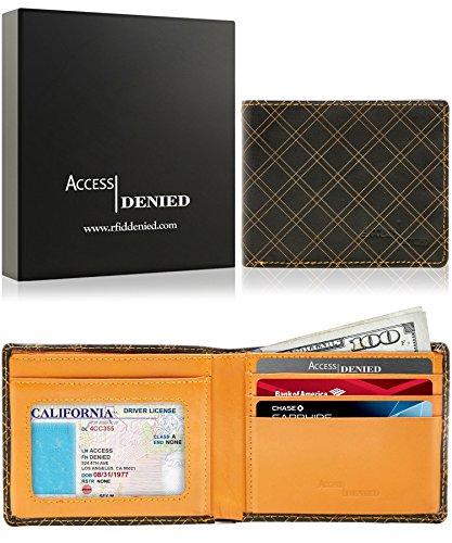 Bifold Leather Wallets Men Blocking