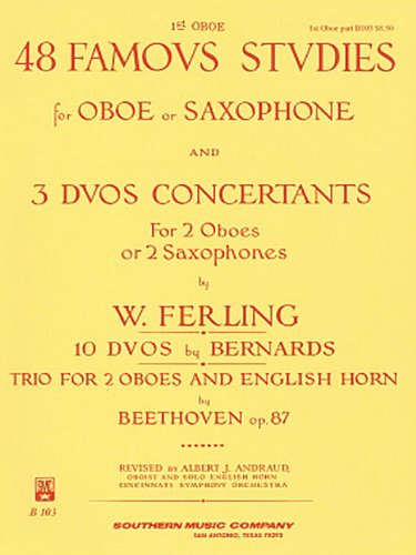 (48 Famous Studies, (1st and 3rd Part): Oboe)