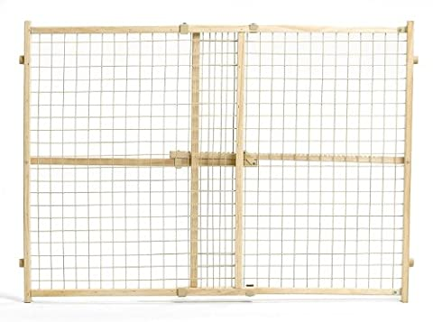 MidWest Wire Mesh Pet Gate, 29 Inches to 50 Inches wide by 32 Inches Tall - Woods Mesh