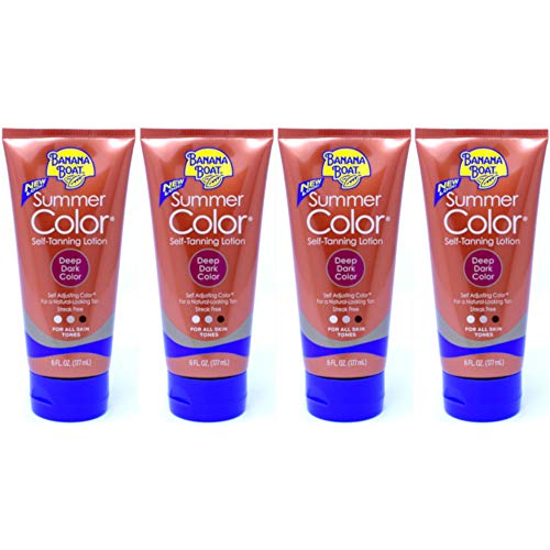 Summer Color Self Tanning Lotion - Deep Dark Color, 6 Ounces