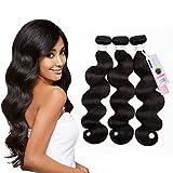 #8: Hair Bundles Human Hair Extension Brazilian Hair Body Wave Bundles Sedittyhair 100% Unprocessed Human Hair Body Wave Double Weft 3 Weave Bundles 12 14 16 inches Body Wave Hair