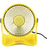 FTXJ Portable Mini Space Heater Safety Winter Desktop Electric Heating Fan (Yellow)