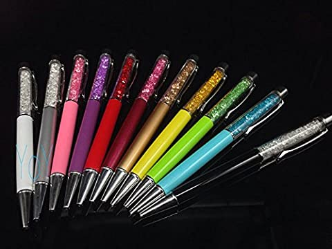 11 COLOR CRYSTAL BALLPOINT PEN SWARROVSKI ELEMENTS WITH POUCH US - Crystal Platinum Cake Stand