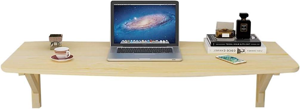 ソリッドウッド壁掛け折りたたみテーブル|ウォール表|パソコンデスク|ウォールバー表 M03/05