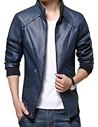 Amazon.com: Blue - Leather & Faux Leather / Jackets & Coats ...