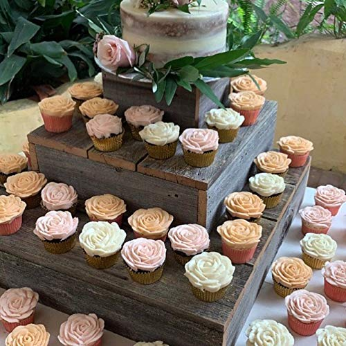 Amazoncom Reclaimed Wood Cupcake Stand Tiered Cupcake Stand