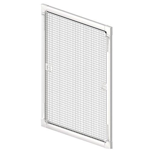 Insektenschutz Fliegengitter Fenster Spannrahmen weiss (RAL 9016) braun (RAL 8017) anthrazit (RAL 9011) 75x75cm / 100x130cm / 130x150cm Breite X Höhe (Weiß, 130x150 cm (Breite X Höhe))