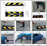 Parking Stopper for Garage Floor, Blocks Car Wheels as Parking Aid and Stops the Tires, acting as Rubber Parking Curbs that Protect Vehicle Bumpers and Garage