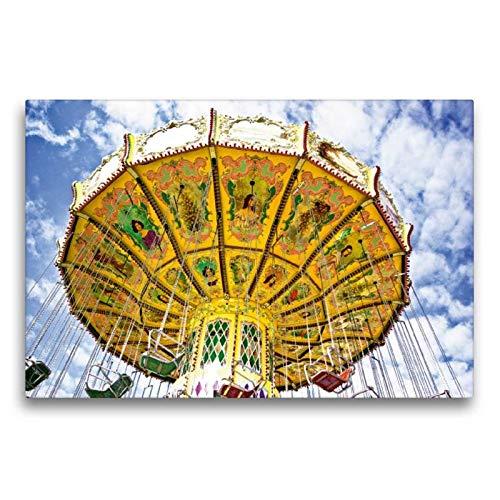 CALVENDO Spass Toile en Textile de qualité supérieure Motif carrousel rétro 75 x 50 cm