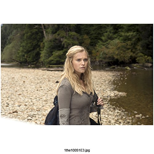 (Eliza Taylor 8 Inch x 10 Inch PHOTOGRAPH The 100 (TV Series 2014 - ) Standing on Rocky Bank Pose 2 kn)