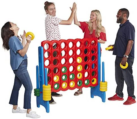 ECR4Kids 4-To-Score Giant Game Set - Oversized 4-In-A-Row Fun for Kids, Adults and Families - Indoors/Outdoor Play Structure - 4 Feet Tall