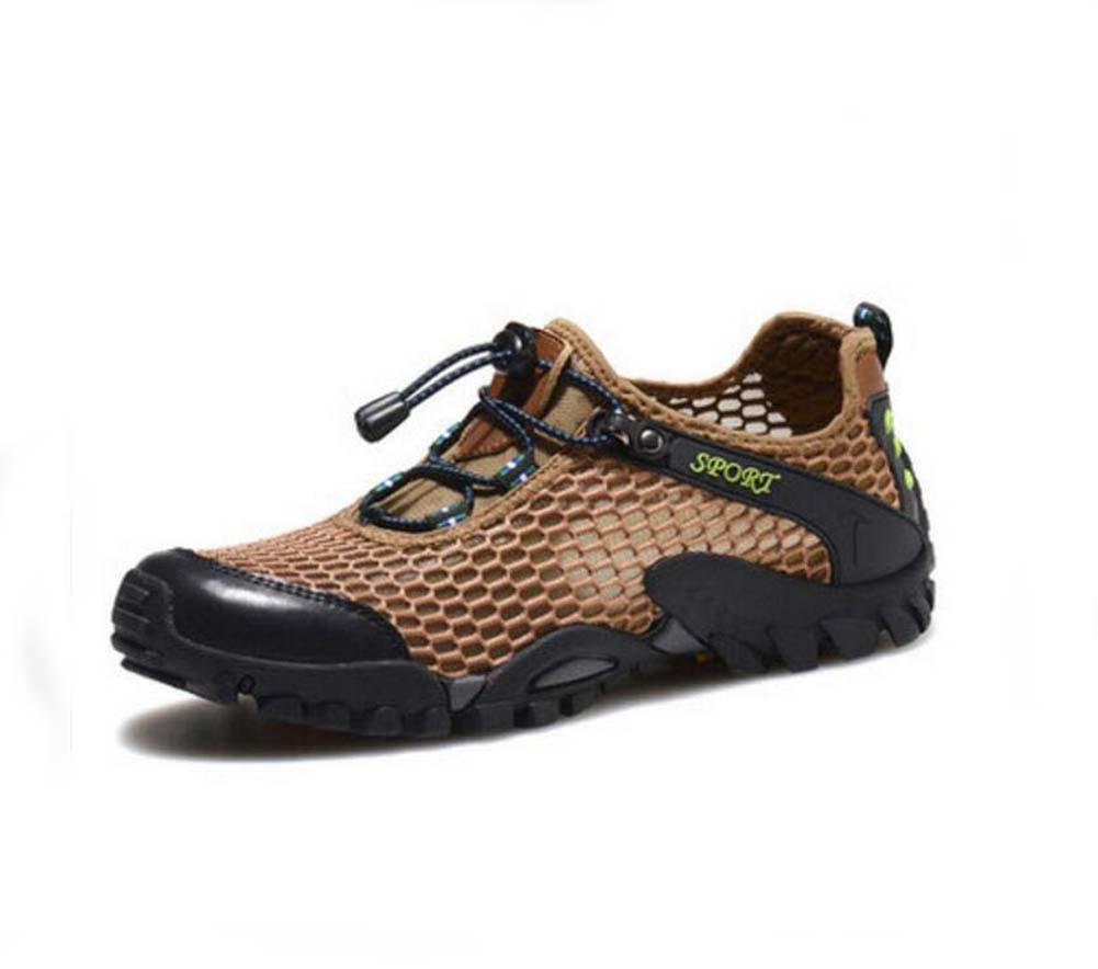 Onfly Pumpe Hohl Mesh Netto-Garn Sportschuhe Lässige Schuhe Männer Atmungsaktiv Pure Farbe ziehen Schnürsenkel Anti-Rutsch Sneker Draussen Klettern Schuhe Eu Größe 38-45