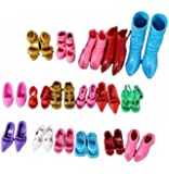 12 Paia Scarpe Accessori per Bambole Barbie Vari Colori