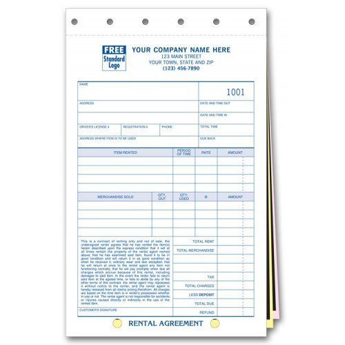 Rental Agreement With Carbons