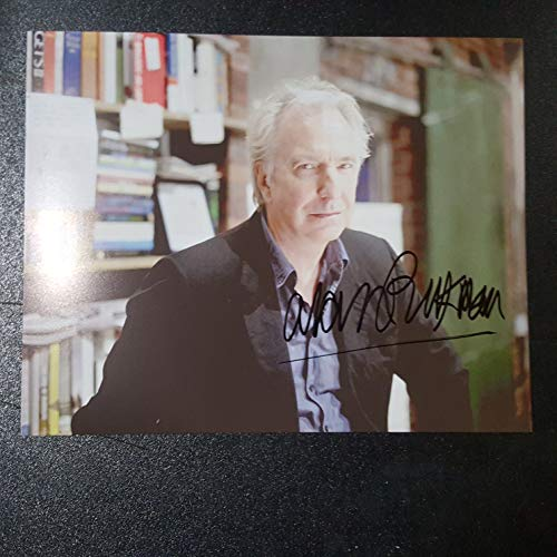 ALAN RICKMAN - Autographed Signed 8x10 inch Photograph Poster HARRY POTTER SEVERUS SNAPE Die Hard Dogma COA PROOF PICTURE