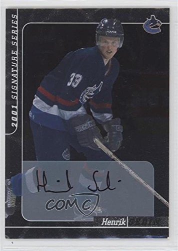 Henrik Sedin (Hockey Card) 2000-01 In the Game Be A Player Signature Series Autographs - [Base] (Signature Series Autographs Hockey Card)