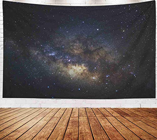Fullentiart Wall Tapestry, Map Large Tapestry Wall Hanging 80x60inch Milky Way Galaxy Stars Space Dust in The Universe Long Exposure Photograph Grain Decoration Room Holiday Décor Tapestries