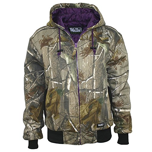 walls-womens-ladies-quilted-fleece-hooded-jacket-realtree-extra-medium