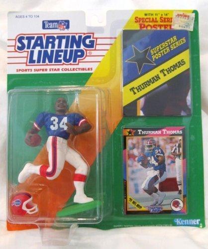 1992 Thurman Thomas Buffalo Bills Kenner SLU Starting Lineup NFL Football figure