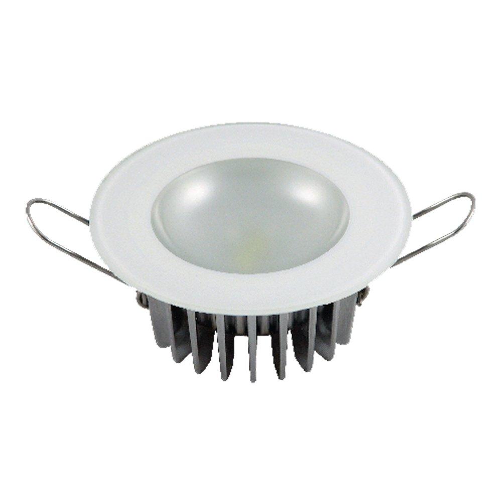 Lumitec 113193 Mirage LED Exterior or Interior Down Light, Flush Mount, Glass Bezel, White Non-Dimming, Non-TTP