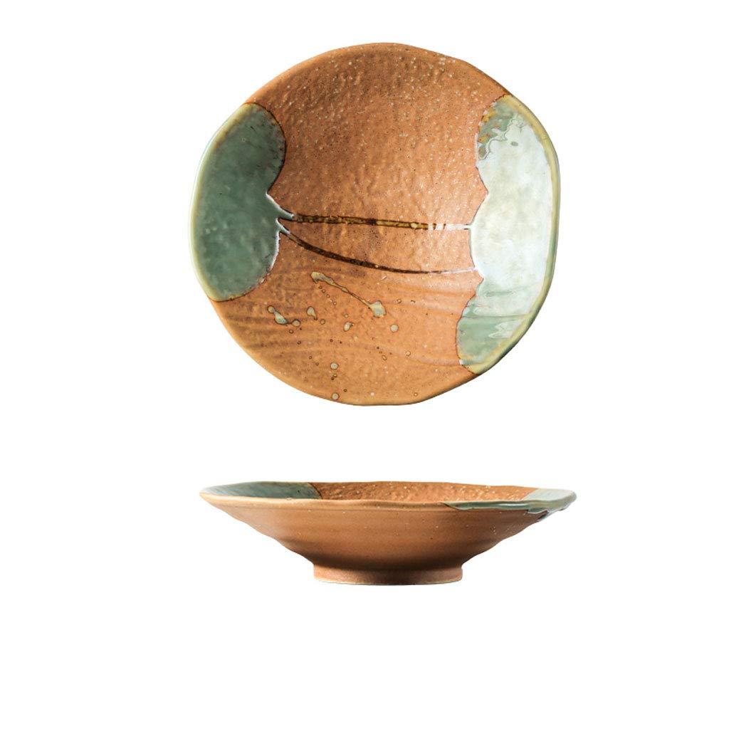 Soup bowl American tableware, home ceramics porcelain color bowl bowl restaurant ramen rice cooking salad bowl [8 inches] home kitchen restaurant tableware fruit snacks (color : Orange)